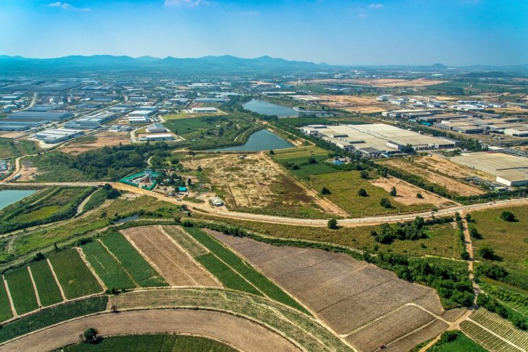 Aerial Photo Farming Agriculture and Land Development